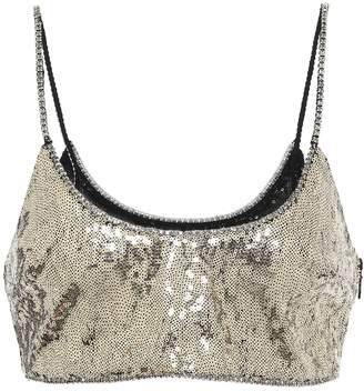 Dundas Sequined crop top