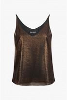 Select Fashion Fashion Womens Gold Metallic Step Side Cami - size 6