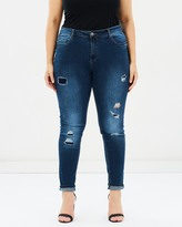 City Chic Tear It Up Harley Jeans