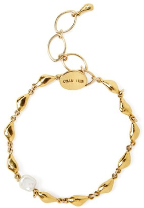 Chan Luu 18K Goldplated & 6-7MM Pearl Nugget Link Bracelet