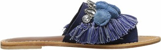 Kenneth Cole New York Women's Osmond Slide Sandal with Fringe Pom Detail
