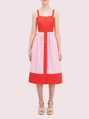 Kate Spade Colorblock Poplin Dress