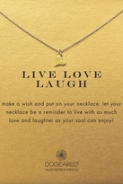 Dogeared Live Laugh Love Necklace in Gold