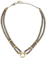 Lagos Diamond Accented Caviar Double Strand Necklace