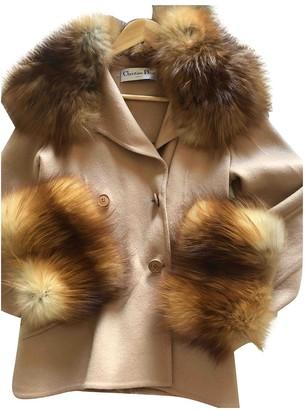 Christian Dior Beige Fur Coat for Women