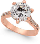Charter Club Rose Gold-Tone Cubic Zirconia Ring, Created for Macy's