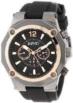 August Steiner Men's AS8080RG Swiss Multi-Function Rose-Tone Silicone Strap Watch