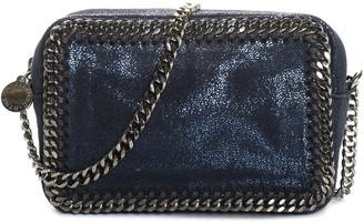 Stella McCartney Blue Faux Suede Falabella Camera Bag