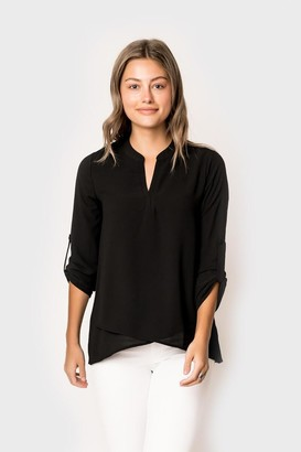Gibson Cross Front Tunic Blouse