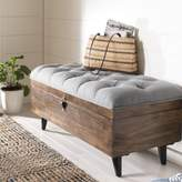 Three Posts Union City Tufted Storage Ottoman Upholstery Color: Gray