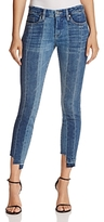 Blank NYC Blanknyc Contrast Denim Crop Skinny Jeans in High and Low