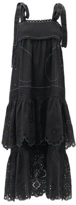 Vita Kin Charlotte Tiered Linen Dress - Black