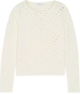 Milly Cutout Stretch-Knit Sweater