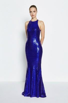 Coast Bow Back Sequin Maxi Dress