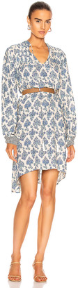 Natalie Martin Lizzy Short Dress in Cyprus Print Blue | FWRD