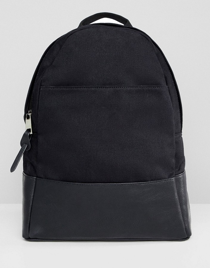 Asos Design DESIGN large canvas backpack
