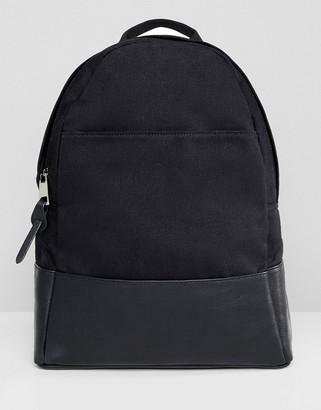 Asos Design DESIGN large canvas backpack-Black