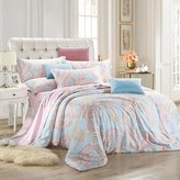 Janeyer® Fancy Tencel Top-quality Elegant Printing Flat Pillowcase Corner Bedding Sets