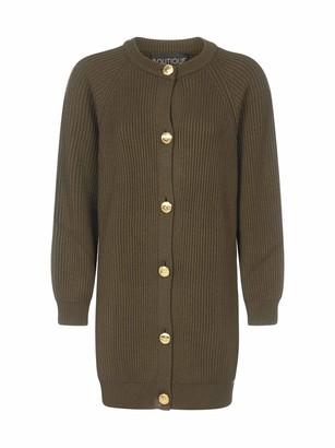 Boutique Moschino Crewneck Knit Cardigan