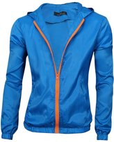 uxcell® Men Zip Down Long Sleeves Front Pockets Hoodie Jackets M