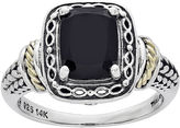 FINE JEWELRY Shey Couture Genuine Onyx and Sterling Silver and 14K Gold Ring
