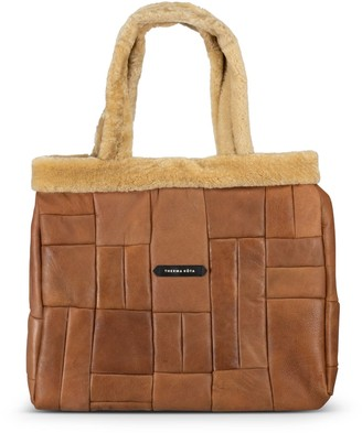 Therma Kota Hygge Quilted Shearling Tote Bag - Mega Gingersnap