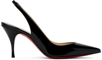 Christian Louboutin Black Patent Clare Sling Heels