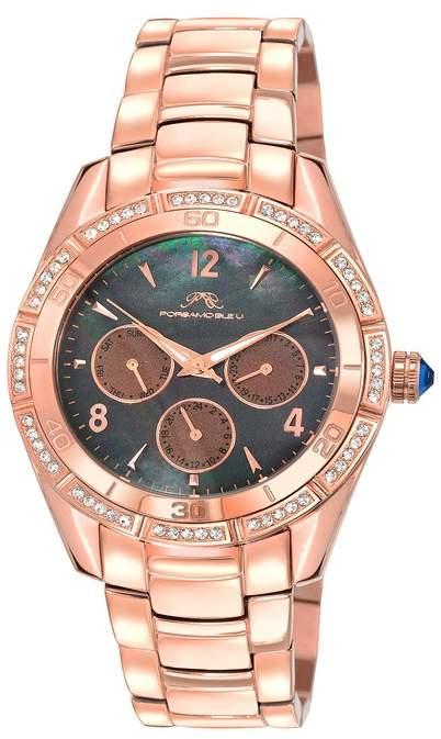 4f0daf5e021b8 Porsamo Bleu Women's Valentina Crystal Accented Quartz Watch, 40mm