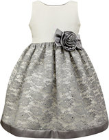 Jayne Copeland Glitter Lace Special Occasion Dress, Toddler & Little Girls (2T-6X)