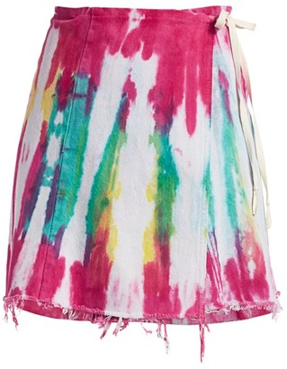 Riley Guilty Pleasures Tie-Dye Denim Wrap Skirt