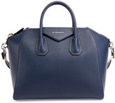 Givenchy Antigona Medium Sugar Goatskin Satchel Bag, Night Blue