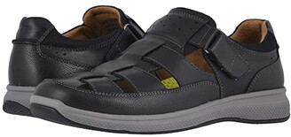 Florsheim Great Lakes Fisherman Sandal (Black Smooth/Black Milled) Men's Shoes