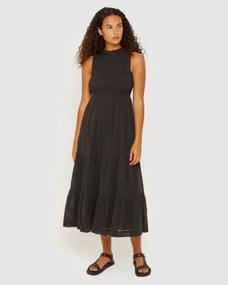 Jag Lucy Shirred Midi Dress