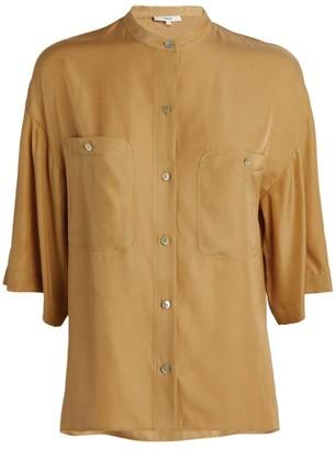 Vince Utility Pocket Collarless Shirt