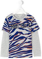 Kenzo tiger logo print T-shirt - kids - Cotton/Polyester - 2 yrs