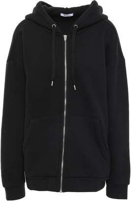 Alexander Wang Cotton-blend Fleece Hooded Jacket