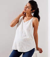 LOFT Maternity Floral Embroidered Bar Back Strappy Cami