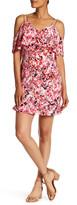 Jessica Simpson V-Neck Cold Shoulder Printed Dress