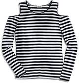Splendid Girls' Striped Cold-Shoulder Top - Big Kid