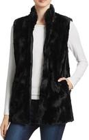 BB Dakota Barlett Swirl Textured Faux Fur Vest