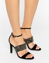 Forever Unique Willow Multi Strap Heeled Embellished Sandal
