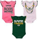 Baby Green Bay Packers Polka Fan 3-Piece Bodysuit Set