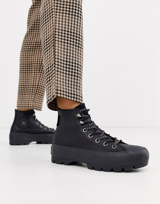 Converse Goretex leather Chuck Taylor Hi Chunky Sole hiker boots in black