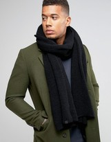 Esprit Knitted Scarf In Black