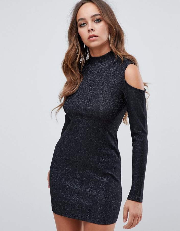 51f3fce4bdf open shoulder bodycon dress