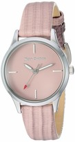 Juicy Couture Black Label Women's Silver-Tone and Light Pink Lizard Grain Leather Strap Watch JC/1247LPLP