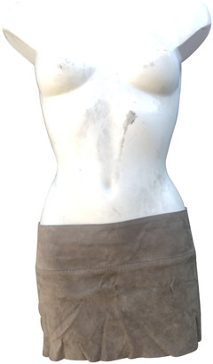 STOULS Beige Suede Skirts