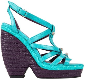 Balenciaga \N Turquoise Leather Sandals