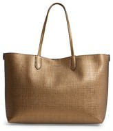 Alexander McQueen Medium Metallic Leather Shopper - Metallic