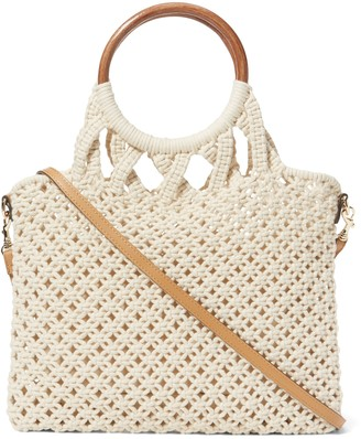 Banana Republic Large Macrame Tote Bag